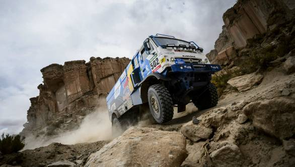 Eduard Nikolaev en route to stage win during the fifth stage of the 2016 Dakar Rally