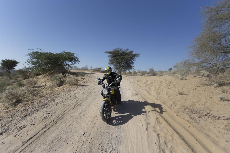 Ducati Scrambler in the dirt