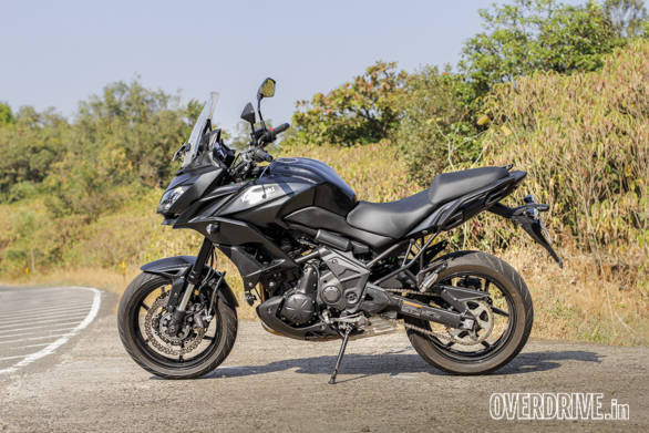 Currently, the Kawasaki Versys 650 only comes in black for India. Finish levels are very good and build quality is excellent. Here's a motorcycle that will age gracefully and slowly while you rack up the miles