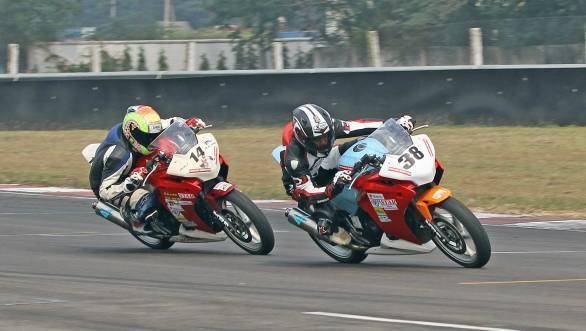 Akash Dingare won the first of the Honda CBR250R races of the season