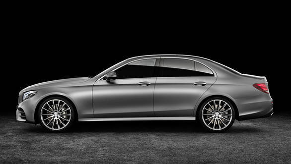 The extra length gives the new E-Class a more elegant profile over the C-Class