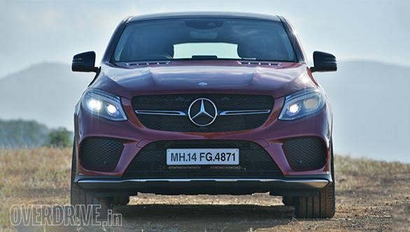 The GLE 450 AMG Coupe's angry looking face is its best angle