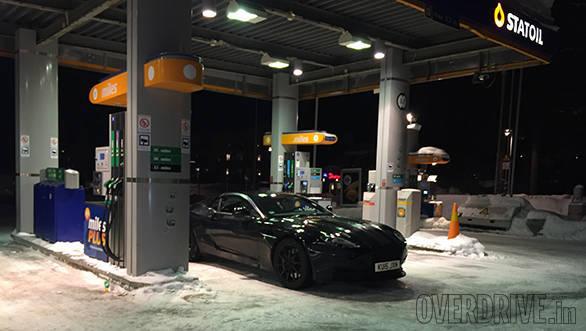 Aston Martin DB11 spied