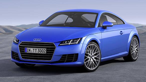 Standaufnahme    Farbe: Scubablau    Audi TT:Das Fahrzeug wird noch nicht zum Kauf angeboten. Es besitzt noch keine Gesamtbetriebserlaubnis und unterliegt daher nicht der Richtlinie 1999/94/EG. Vorlaeufige Werte: Kraftstoffverbrauch kombiniert in l/100 km: 7,1 - 4,2; CO2-Emission kombiniert in g/km: 164 - 110