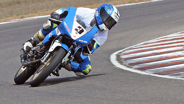 MMSC FMSCI National Motorcycle Racing Championship - Day Two Jagan Kumar (action)