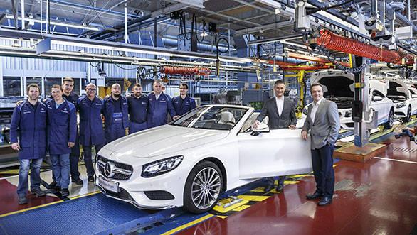 Bandanlauf Mercedes-Benz S-Klasse Cabriolet im Werk Sindelfingen