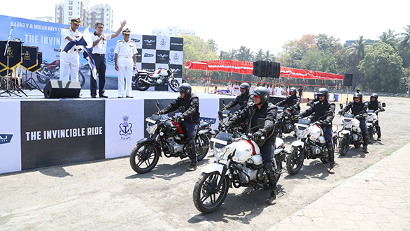 Indian Navy partners with the Bajaj V for an Invincible Ride (2)