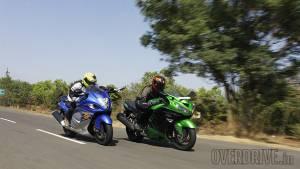 Comparo: Suzuki Hayabusa vs Kawasaki Ninja ZX-14R