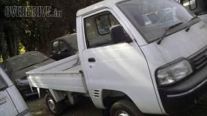 Spied: Maruti Suzuki Super Carry Turbo LCV at a dealer stockyard in India