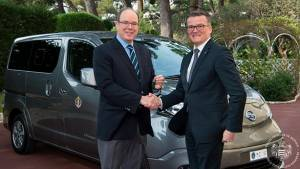 Two zero-emission Nissan e-NV200s delivered to the Palace of Monaco