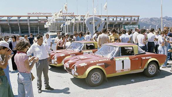 Portugal 1975 Heyday for Fiat Abarth 124.