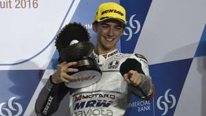 2016 Moto3: Aspar Mahindra's Francesco Bagnaia finishes third in Qatar