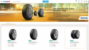 Michelin tyres are now available online in India on Snapdeal
