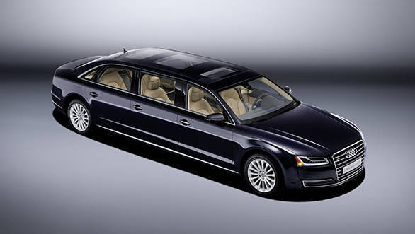 Audi creates a one-off extended A8