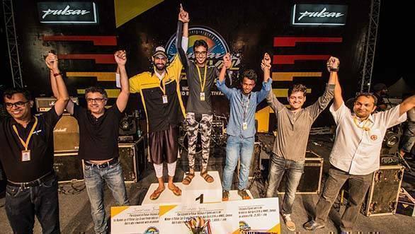 Bajaj Pulsar Festival of Speed winners with Bajaj Team
