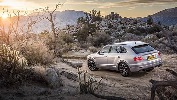 Bentley Bentayga global media drive, Palm Springs, USA. Jan 2016 Photo: James Lipman