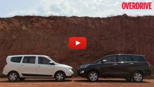 Video comparison: Toyota Innova Crysta vs Renault Lodgy