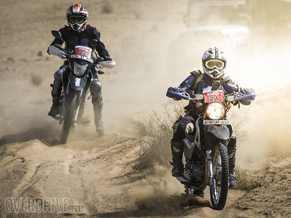 The slower motorcycles, would start bunching together half way through the stages