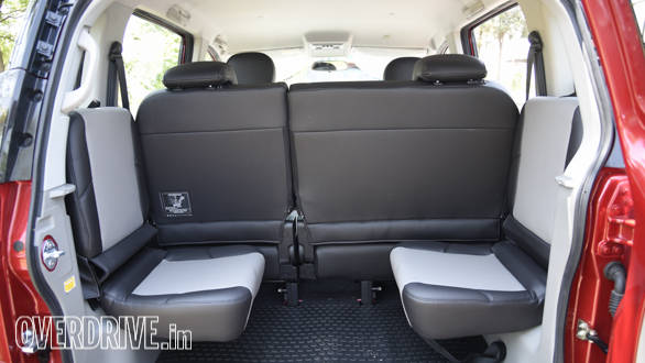 The boot offers flexible seat arrangement options
