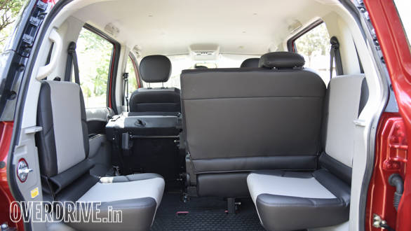 Flexible seats allow multiple boot space options. The jump seats also fold up to liberate space