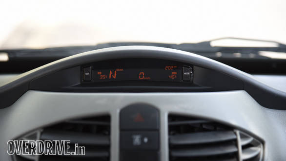 This display is also fromthe Quanto and offers useful features like outside/inside temperature, time, speed and gear position. It is a little hard to read in bright sunlight though