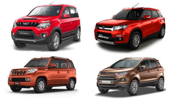 Spec Comparo Mahindra Nuvosport vs Mahindra TUV 300 vs Ford EcoSport vs Maruti Suzuki Vitara Brezza