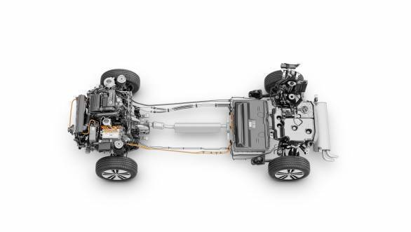 The 1.4-litre TSI and the Li-ion produce a system output of 218PS and 400Nm