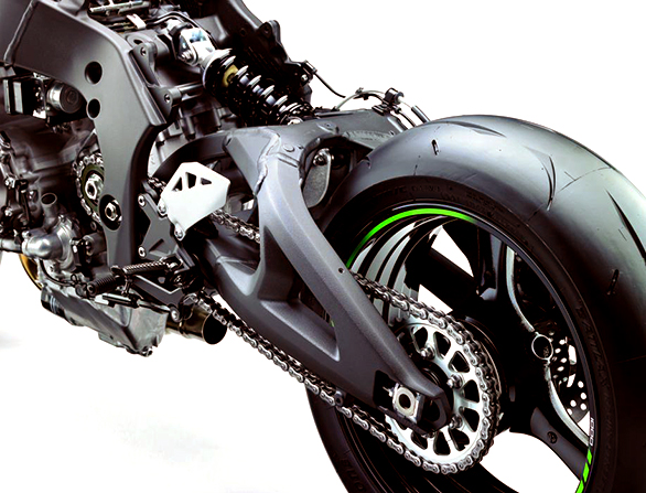 The swingarm has been reincorded and is a 15.8mm longer