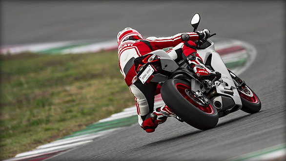 Ducati 959 Panigale cornering rear shot