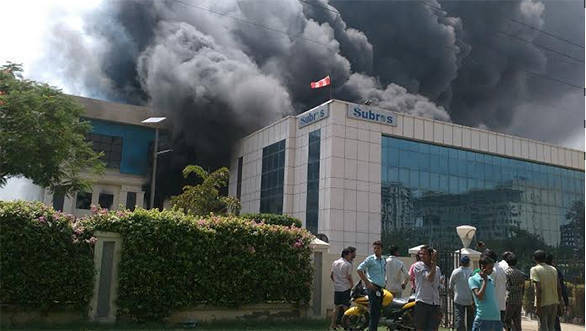 Fire at Subros