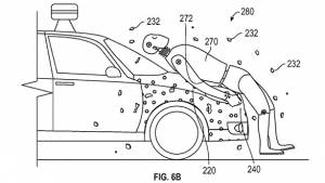 Google patents sticky layer technology to protect pedestrians in crash