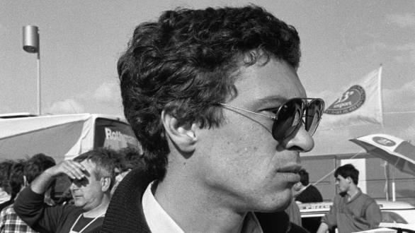 Sergio Cresto, Henri's co-driver, at the Tour de Corse in 1986