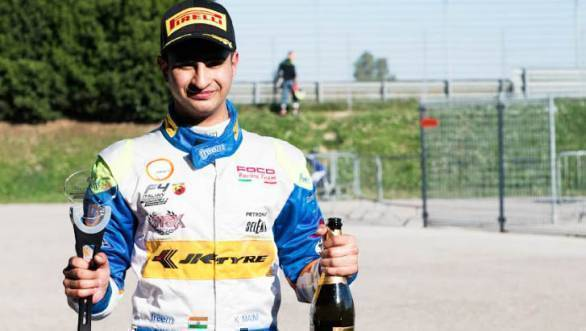 Kush Maini now heads the rookie classification of the Italian F4 championship after two rounds