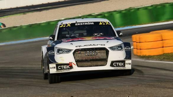 Mattias Ekstrom will start the first Semi Final on pole at the HockenheimRX
