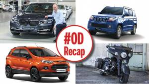 #ODRecap: 100PS Mahindra TUV300 launched, BMW rolls out 50,000th car and Indian Chieftain Dark Horse unveiled