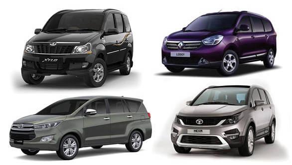 Toyota Innova Crysta vs Tata Hexa vs Mahindra Xylo vs Renault Lodgy
