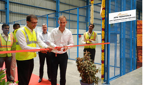 APM Inland Services Chennai warehouse ribbon cutting