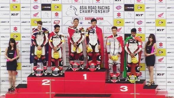 Hari Krishnan took his second international podium in as many races at the Suzuka Round of the Asia Road Racing Championship