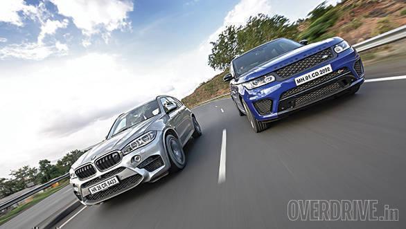 BMW X5M vs Range Rover SVR (30)