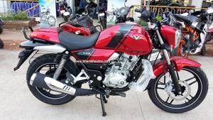 Bajaj V15 launched in Cocktail Wine Red scheme in India at Rs 62,000