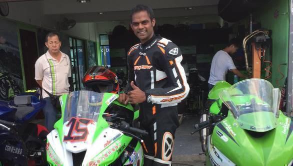 Rajini will compete in the China Superbike Championship with the China Kawasaki Racing Team