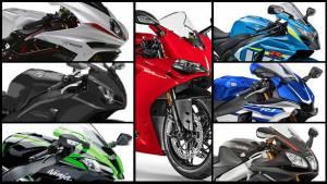 Spec comparison: 2016 Kawasaki ZX-10R vs 2015 Suzuki GSX-R1000 vs Honda CBR1000RR vs Yamaha YZF-R1 vs Aprilia RSV4 RR vs Ducati 1299 Panigale vs MV Agusta F4 vs BMW S1000RR