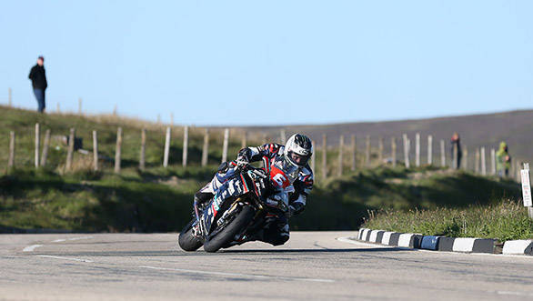 Michael Dunlop (MD Racing  1000 BMW) during the practice sessions for the Monster Energy Isle of Man TT.