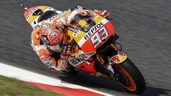 Marc Marquez will start his home race, the Catalunya GP in 2016, on pole