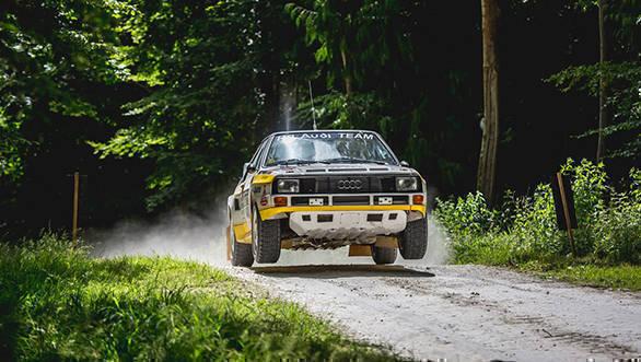 Rally stage audi quattro