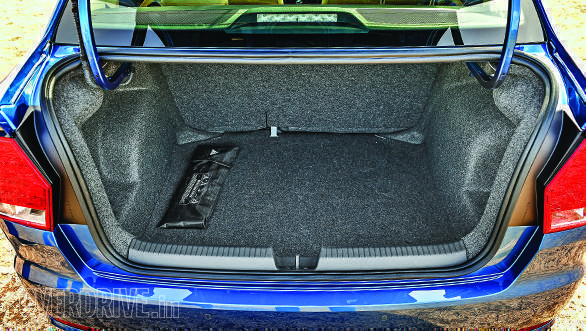 The 330l boot is wisely designed to maximise cargo space, and rear seats are collapsible