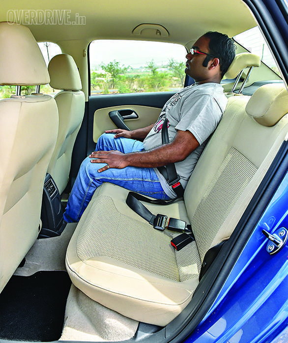 Plenty of cubby holes up front, but few storage spaces at the back. The Ameo is ideally suited for a nuclear family