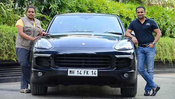 (l-r) Nidhi Tiwari, founder of WBB, and Pavan Shetty, Director of Porsch... (1)