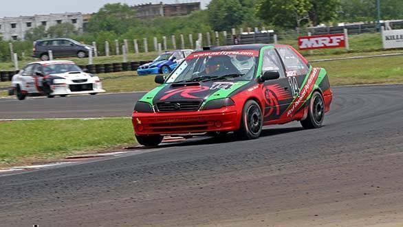 Arjun Narendran won both races of the Indian Touring Cars class