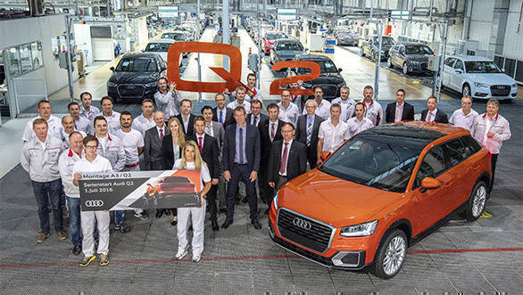 Start of series production of Audi Q2 at main plant in Ingolstadt at the assembly.